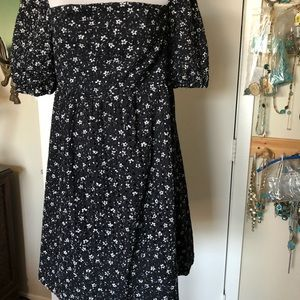 Navy/White Flower Eyelet Dress